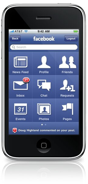 Facebook 3.0 for the iPhonewill have a renewed homescreen