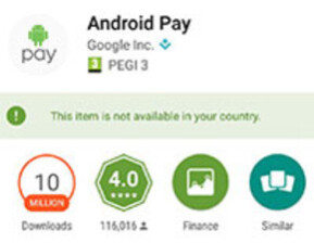 Not what UK Android users should be seeing - Android Pay finally comes to the UK, but it's off to a bumpy start (UPDATE: not quite yet)