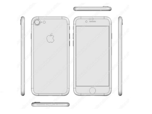 iPhone 7 CAD schematic