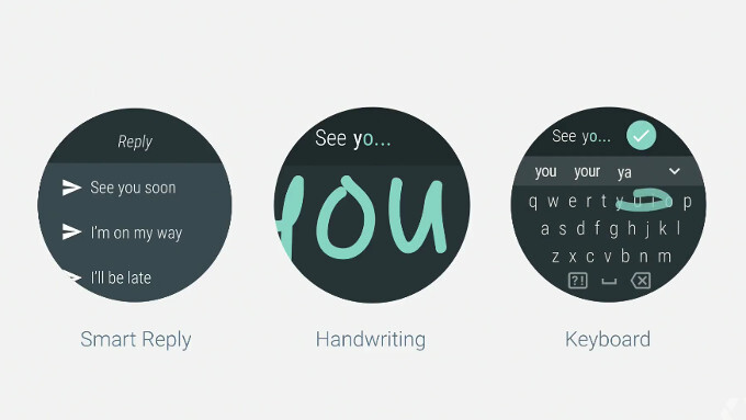 You can now use your finger for handwriting