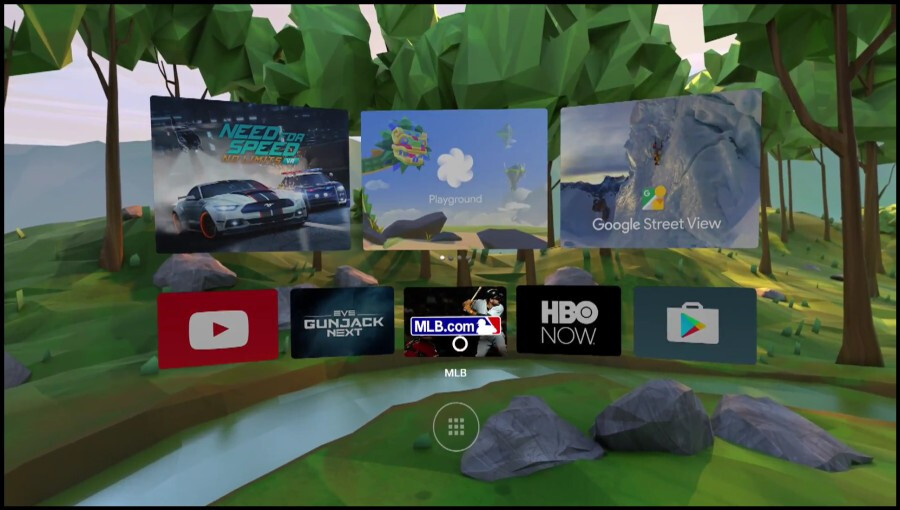 VR interface for Android N
