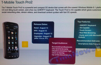 T-Mobile Twitter says Touch Pro2 availble this summer - evidence hints to Aug. 12?