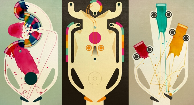 Inks for iOS is a fun game that combines pinball excitement with paintball mayhem