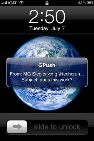 GPush for the iPhone