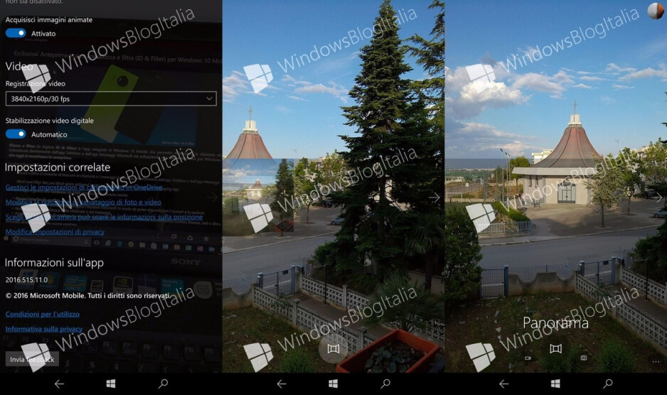 The default Windows 10 Mobile camera app might soon get a built-in Panorama mode
