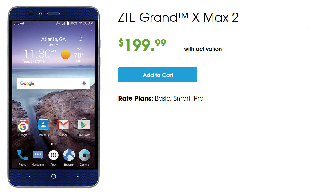 location how to reset zte grand x max 2 out