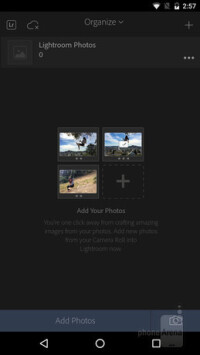 Tap Add Photos at the bottom
