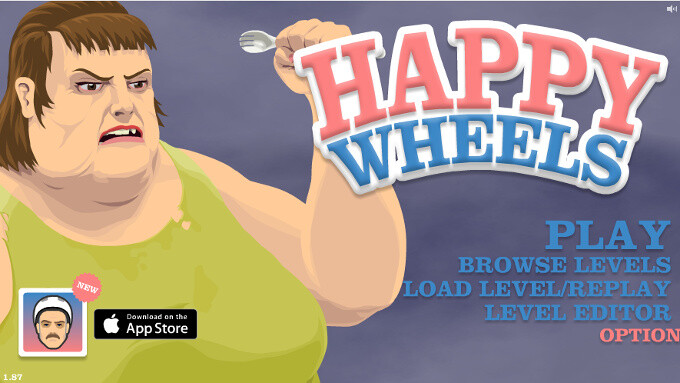 Happy Wheels review: ragdoll physics masterpiece focusing on blood and gore