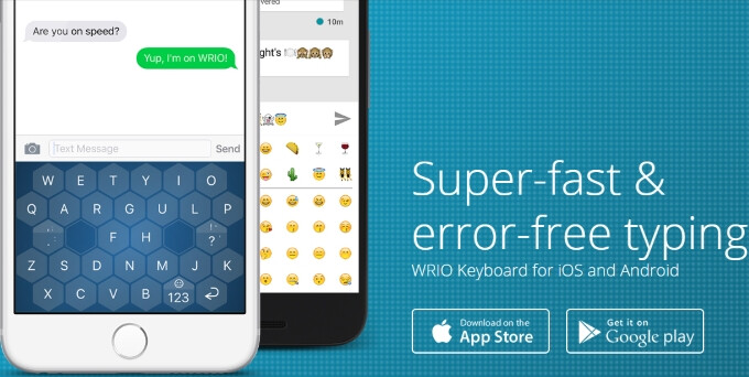 Wrio is a new keyboard app designed for fast and comfy typing