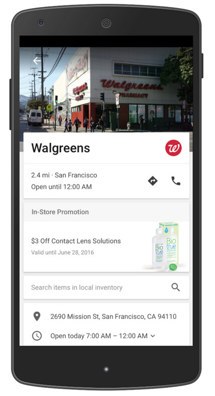 Google's promoted pins use a company's logo on a map - Google revises its AdWords platform to improve advertisers' experiences