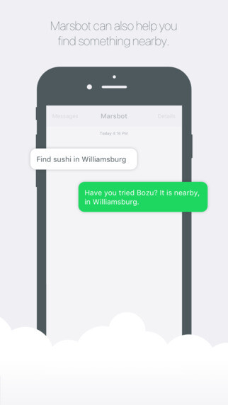 Marshbot is Foursquare via SMS, but you shouldn't ask it questions