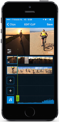 GroupClip in action. - GroupClip lets you collaborate with friends on putting together multi-camera videos quickly and easily
