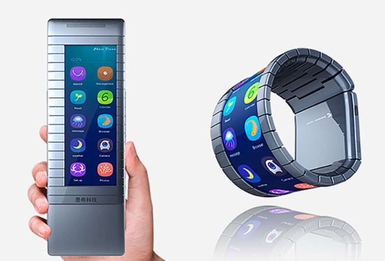 A black and white screened version of this bendable phone will be available in China later this year - Moxi's flexible phone bends it like Gumby; device will launch in China later this year