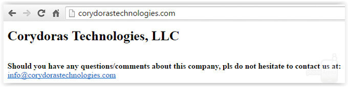 The entirety of Corydoras Technologies' website. - Patently ridiculous: Apple hit with a lawsuit because its iPhones can... make calls and take photos
