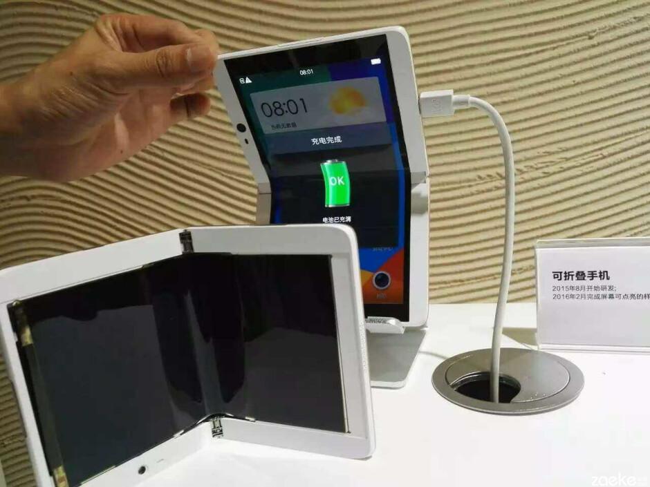 Oppo's folding smartphone prototype smiles for the camera