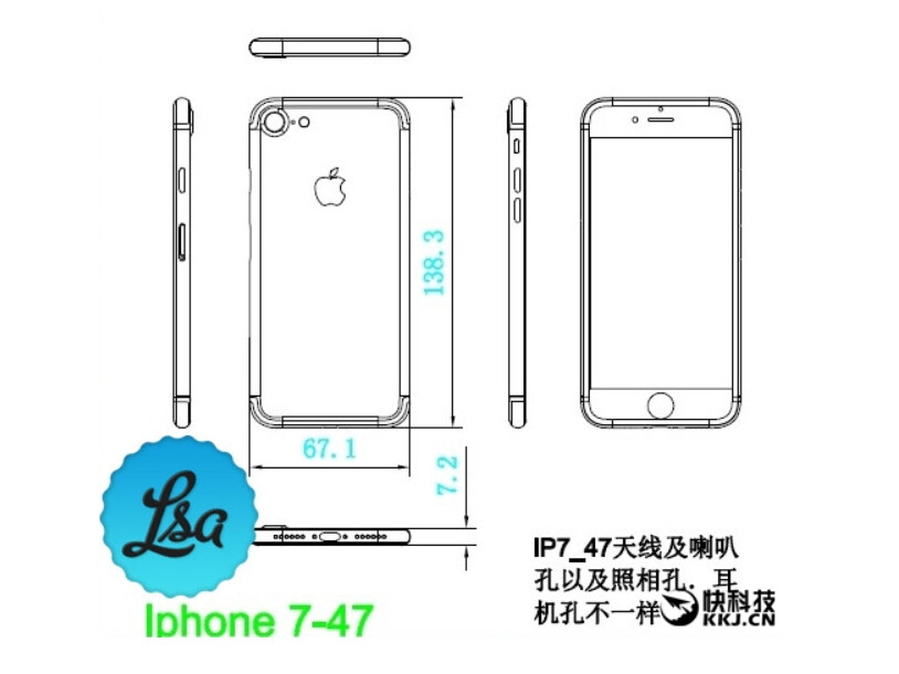 Leaked Diagrams Reveal That The Apple Iphone 7 And Apple Iphone 7