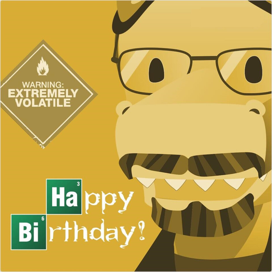 This is how the app commemorated Bryan Cranston's 59th birthday. - Timehop arranges your old posts and photos on social media into delightful stories