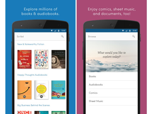Scribd (iOS and Android)