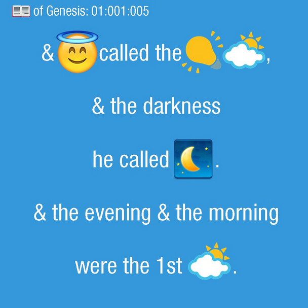 Scripture 4 Millennials is a 21st Century translation of the Bible - Sign of the times: the Bible is translated to emoji