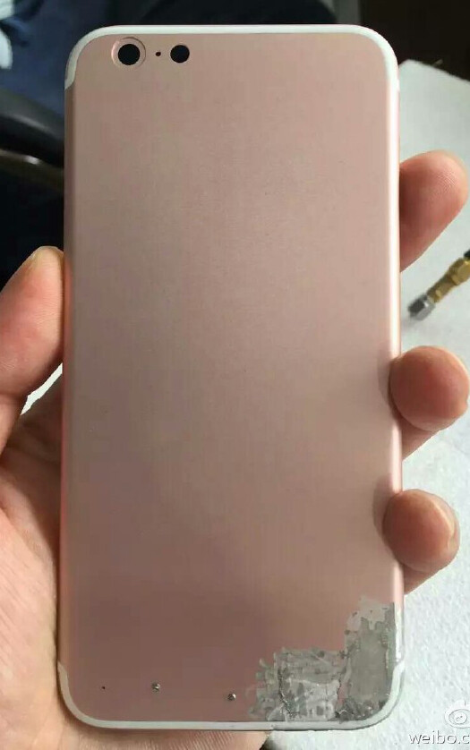iPhone 7 back chassis leaks again – in Rose Gold this time