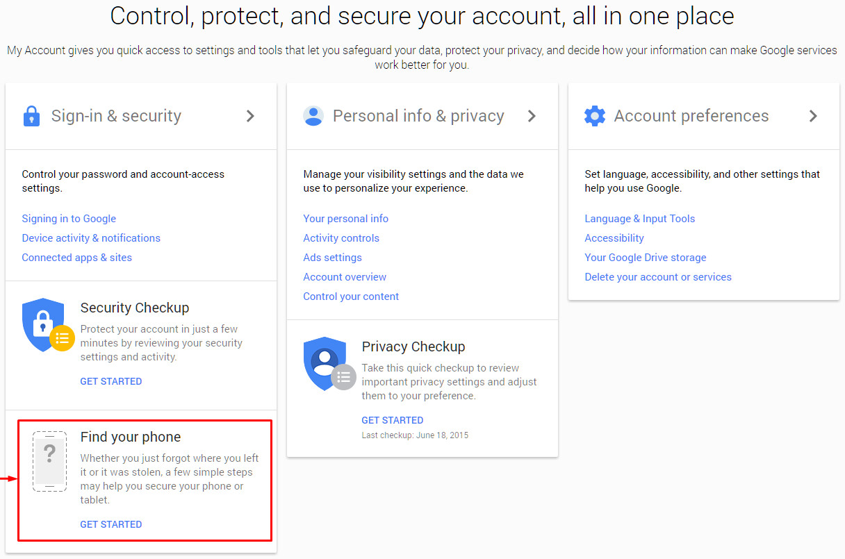 How To Find Your Lost Android Phone With Google's New My Account Tool How  To Find Area Code