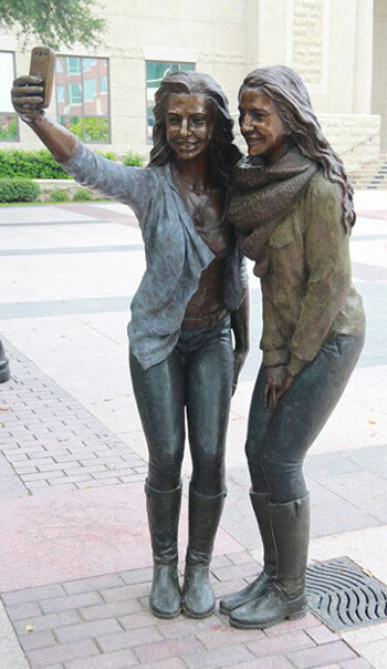 Selfie statue appears in Sugar Land, Texas to forever glorify our vain habit