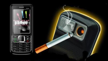 Cellphone sends and receives your calls, and lights up your smokes?