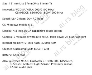 UPDATED: More rumors about HTC Leo. HTC Mega to succeed Touch 3G?