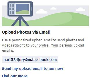 Facebook вече предлага качване на снимки и видеоклипове чрез e-mail