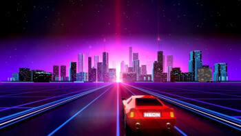 Neon Drive is a high speed racing rhythm game lit with 80's action movie spirit