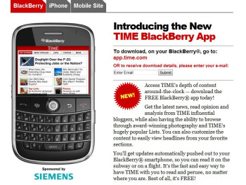 Time Magazine offers new app for BlackBerry devices