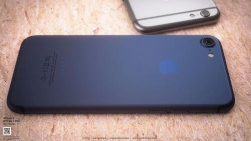 Dark Blue iPhone 7/7 Pro reimagined by Martin Hajek