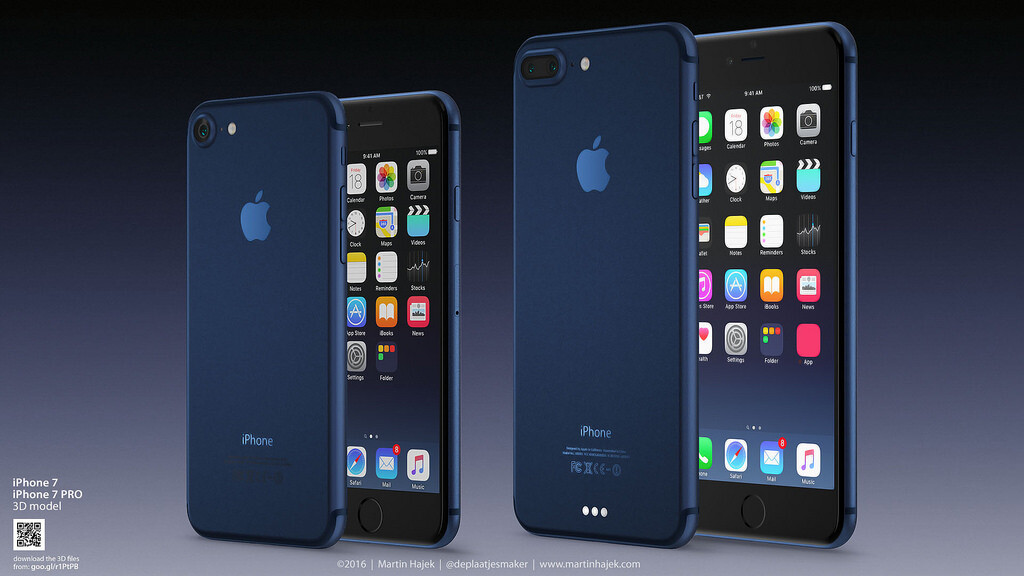Dark Blue IPhone 7 Pro Reimagined By Martin Hajek