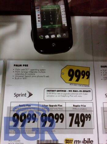 $99.99 Palm Pre at Best Buy turns out to be a mistake