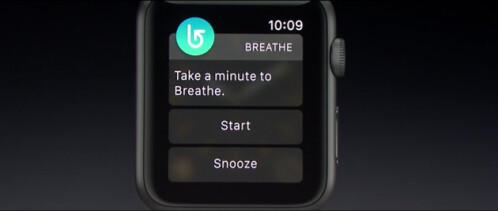 New Apple Watch app Breathe turns your wearable into a deep breathing coach
