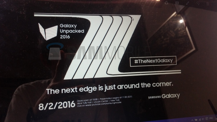Leaked Unpacked invite reveals Samsung Galaxy Note 7 launch date