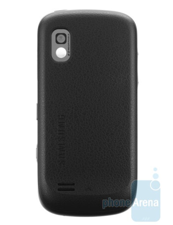 The Samsung Solstice A887 sports a nicely-patterned back
