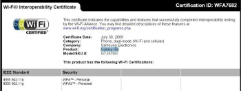 The Samsung Galaxy Lite gets a Wi-Fi certificate