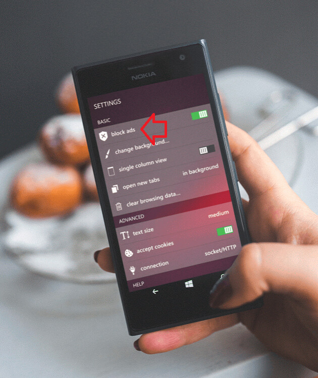Opera Mini for Windows Phone now comes with an ad blocker...
