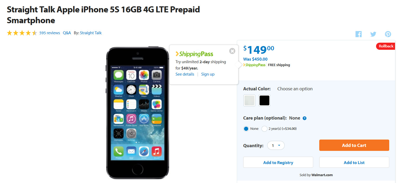 How Much Do Iphones Cost At Walmart