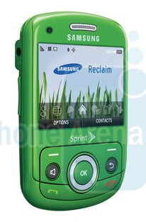 The Samsung Reclaim is said to be an environment-friendly product - Exclusive images of the Samsung Reclaim for Sprint