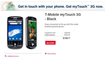 myTouch 3G, BlackBerry Curve 8520 both available today from T-Mobile