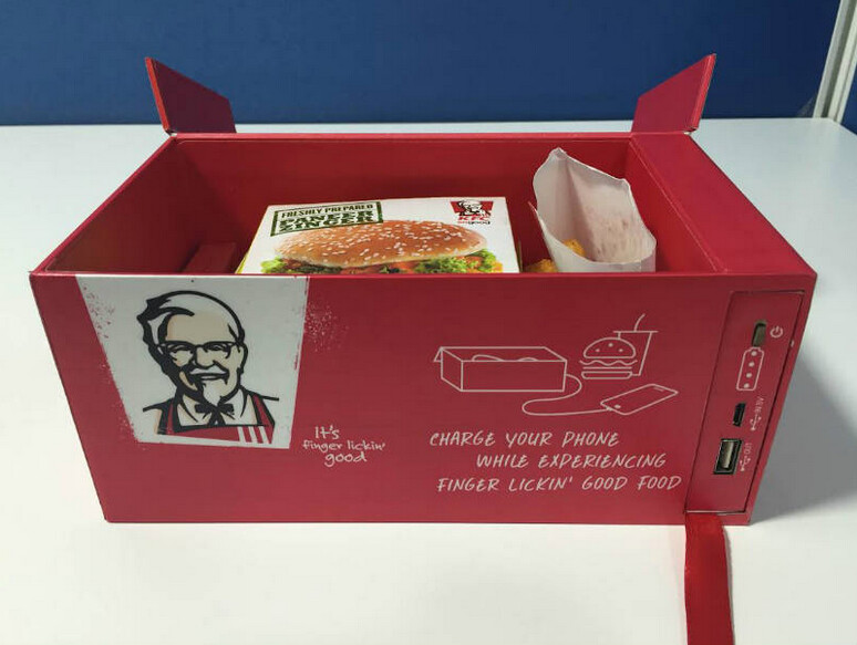 KFC's Watt A Box will recharge your device while you eat - KFC's new 'Watt A Box' charges your phone while you eat