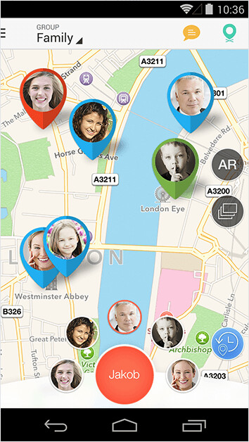 This is how Sygic's family tracker looks. - Navigation app Sygic makes its Flight Tracker available to non-paid users