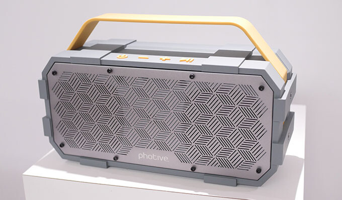 Photive M90 waterproof, rugged Bluetooth speaker - Photive's Bluetooth audio lineup targets music fans looking for hardware on a budget