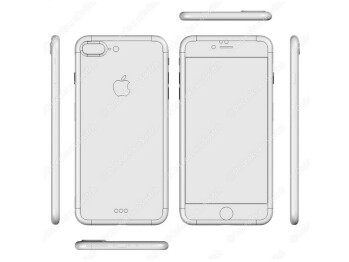 iPhone 7 Pro CAD drawing