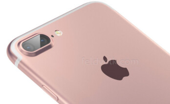 Artist's rendition of an iPhone 7 Pro's dual-lens camera setup