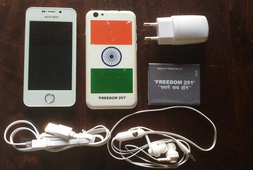 The Freedom 251, priced at $4 in India, starts shipping on June 30th - $4 Freedom 251 smartphone starts shipping in India on June 30th