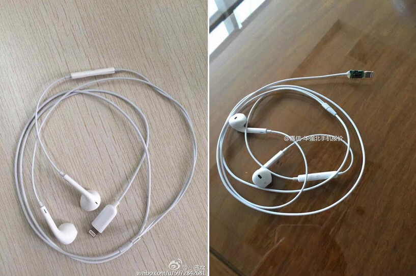 Apple EarBuds designed to plug into the Lightning port are rumored to be bundled with the iPhone 7 - New photos show Apple EarPods with Lightning connector