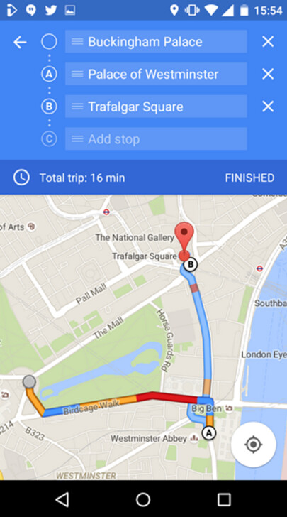 Google Maps For IOS And Android Now Supports Multiple Destinations - Google maps multiple stops